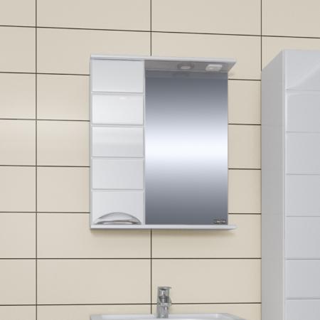 Зеркало  Санта Родос 60 со шкафчиком левый свет